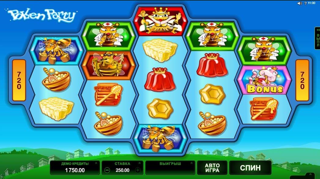 Игровой автомат Pollen Party в казино Плей Фортуна 2018