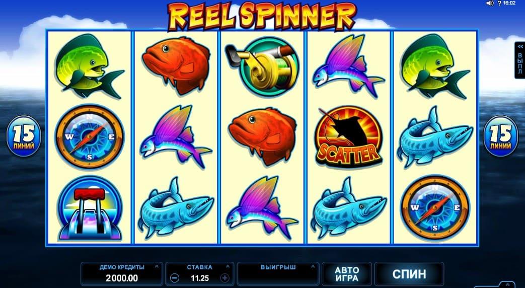 Игровой автомат Reel Spiner в казино Плей Фортуна