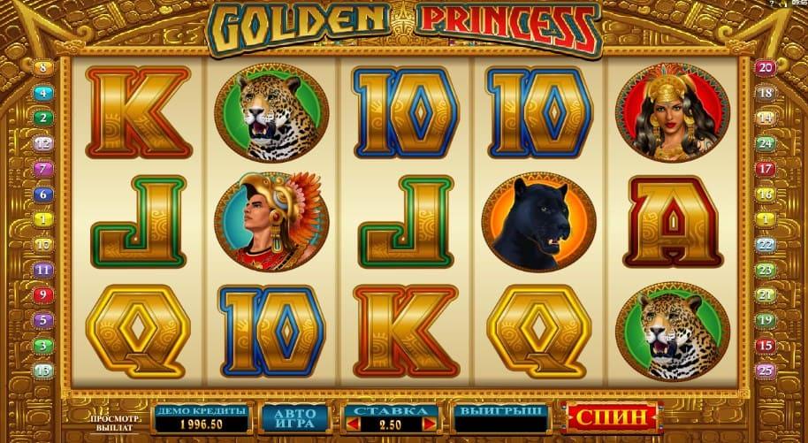 Игровой Автомат Golden Princess (Голден Принцесс) в Play Fortuna